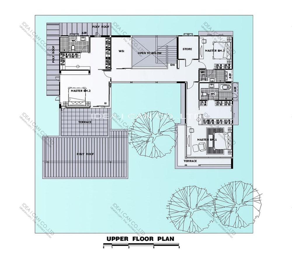 แบบบ้านสองชั้นสไตล์รีสอร์ท, แบบบ้าน 2 ชั้น, แบบบ้าน 4 ห้องนอน, ห้องน้ำสไตล์รีสอรท, พื้นที่ใช้สอย 480 ตร.ม., RE-H2-505.480, แบบบ้านสไตล์รีสอร์ท , รับเหมาก่อสร้าง, รับสร้างบ้าน, รับสร้างบ้านสองชั้น