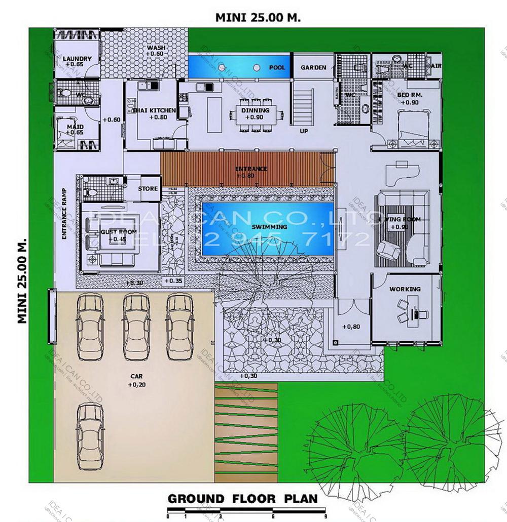 แบบบ้านสองชั้นสไตล์รีสอร์ท, แบบบ้าน 2 ชั้น, แบบบ้าน 4 ห้องนอน, ห้องน้ำสไตล์รีสอรท, พื้นที่ใช้สอย 505 ตร.ม., RE-H2-505.505, แบบบ้านสไตล์รีสอร์ท , รับเหมาก่อสร้าง, รับสร้างบ้าน, รับสร้างบ้านสองชั้น