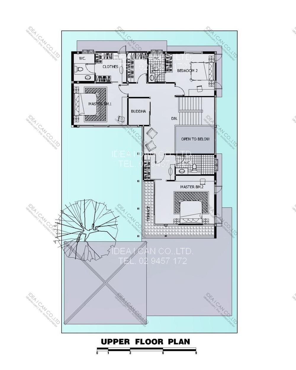 แบบบ้านสองชั้นสไตล์รีสอร์ท, แบบบ้าน 2 ชั้น, แบบบ้าน 4 ห้องนอน, ห้องน้ำสไตล์รีสอรท, พื้นที่ใช้สอย 420 ตร.ม., RE-H2-505.420, แบบบ้านสไตล์รีสอร์ท , รับเหมาก่อสร้าง, รับสร้างบ้าน, รับสร้างบ้านสองชั้น